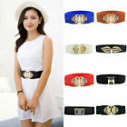 Fashion Waist Belt Dress Buckle Waistband Elastic Wide Stretch Belts Women Girls