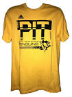 Pittsburgh Penguins Adidas Yellow Amplifier Short Sleeve T-Shirt $19.99 USD on eBay