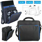 For PS4/Pro/Slim Game Consoles Accessories Shoulder Bag Travel Carry Case Black
