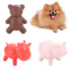LD_ PETS DOG PUPPY RUBBER PIG BEAR CATTLE SHAPE BITE-RESISTANT MOLAR CHEW TOY
