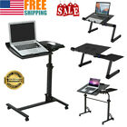 Over Bed Laptop Standing Desk Riser Tilt Stand Rolling Desk Cart Bed Side Table