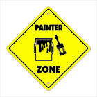 Painter Crossing Decal Zone Xing brush mineral spirits supplies drop cloth