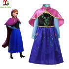 Girls Frozen Princess Anna Fancy Dress Up Cosplay Costume Party Outfit Christmas