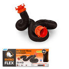 """Camco RhinoFLEX 5'' 10"""" 15 """" and 20"""" RV Sewer Hose Kit,  Includes Swivel Fittings"""