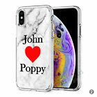Initials Phone Case Personalised Marble Hard Cover For Apple iphone 8 X 11 046-2