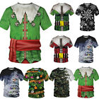 Christmas Xmas 3D Print T-Shirt Mens Womens Funny Novelty Short Sleeve Ugly Tops image