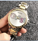 New Fashion Bear Watch Women Dress Stainless Steel Color Letter Wrist Watches image