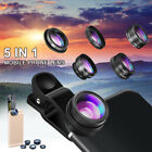 5 in 1 Fish Eye+ Wide Angle + Macro Camera Clip-on Lens for Universal Cell