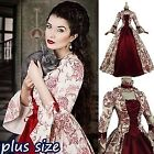 Halloween Women Medieval Vintage Dresses Cosplay Christmas Ball Gown Costumes