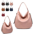 Ladies Fx Leather Side Zip Slouch Shoulder Bag Hobo Work Travel Handbag MA36539