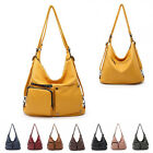 Ladies Fx Leather Slouch Handbag Hobo Day Work Shoulder Bag Travel Tote MA36549