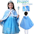 UK Kids Girls Costume Princess Fairytale Dress Up Belle Cinderella Elsa Rapunzel