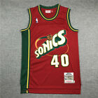 Shawn Kemp Seattle Supersonics Throwback Swingman Jersey Red Size S-XXL on eBay