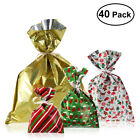 40X Assorted Christmas Gift Wrapping Bags Candy Goodie Bags Birthday Xmas Party