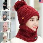 Kyпить Womens Knit Scarf Hat Set Winter Warm Solid Pom Soft Venonat Beanie Caps Scarves на еВаy.соm