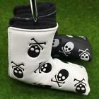 Skull Crossbones Golf Putter Cover Leather - Fits Most Putter Blade Styles