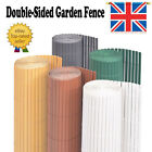 Double-Sided Garden Fence Privacy Screen Barrier for Shrubs Flower Balcony Panel