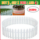 100pcs Picket Fence Garden Fencing Lawn Edging Home Yard Christmas Tree Fence G