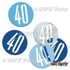 Blue 40th Birthday Party Decorations Supplies Boys Men Male Balloons Banners etc