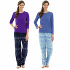 Snowflake Polar Fleece Pyjama Set Winter Nightwear PJ  Womens