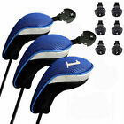 Golf Club Head Covers Wood Driver Fairway Hybrid Headcovers with Replacement Tag