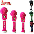 Golf Headcover Pom Pom Driver Fairway Hybrid Club Head Covers Gift Finger Ten AU