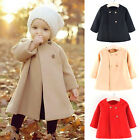 Winter Kids Baby Girls Cloak Long Sleeve Jacket Winter Warm Coat Parka Outerwear