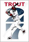Los Angeles Angels of Anaheim - Mike Trout 27 13x19 Best Baseball Art Poster LA on Ebay