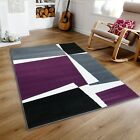 SMALL - X LARGE GREY WHITE PURPLE PUZZLE GEOMETRIC SOFT CHEAP RUG MAT SALE