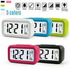 Battery Operated Digital Alarm Clock with LCD Display Backlight Calendar Snooze