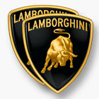 2x LAMBORGHINI Sticker Vinyl Decal Car Window Bull Emblem Badge Bull Black