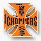 2x WEST COAST CHOPPERS Sticker Vinyl Decal Car Window Jesse James Cross Motor