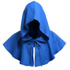 LD_ MEDIEVAL HOODED COWL HAT MONK CLERGY WITCH WIZARD CAPE FANCY HALLOWEEN COS