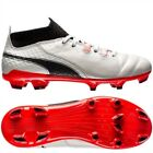 PUMA ONE Kid's 17.1 FG Football Boots - Various Sizes - White - New