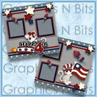 HAPPY 4TH Printed Premade Scrapbook Pages