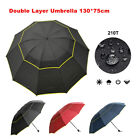 30 inch Large Automatic Open Golf Umbrella Double-Canopy Windproof UV Protection