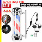 Barber Shop 28inch Rotating LED  Pole Light Hair Salon Sign Red White Blu