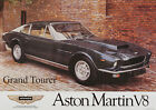Aston Martin V8 Grand Tourer Vintage Showroom Advertising Picture Poster A1 A3+