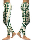 Milwaukee Bucks Leggings Small-XXL (0-14) Basketball Fan Gear Gift Womens Plaid on eBay