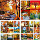 Beautiful DIY Autumn Scenery Oil Paint By Number Kit Digital Art Wall Home Decor