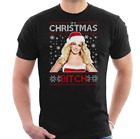 New! Britney Spears Its Christmas Bitch Knit Pattern Men's T-Shirt S to 4XL P315