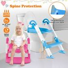 3-in-1 Potty Training Toilet Seat Baby Toddler Chair r w/ Steps Stool For Kids image