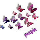 3D Butterfly Wall Stickers Decal Kids Children Bedroom Home Room DIY Decor 12pcs