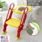 Toddler Toilet Chair Kids Potty Training Seat w/ Step Stool Ladder for Child US image
