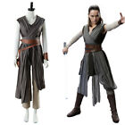 Star Wars 8 The Last Jedi Rey Cosplay Costume Ver.2 Outfit Rey Halloween Suit $79.99 USD on eBay