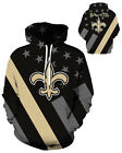 New Orleans Saints Hoodie Lightweight Small-XXXL 2XL Unisex Men Women Football $26.99 USD on eBay