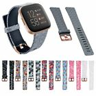 For Fitbit Versa 2 Replacement Watch Band Soft Silicone Print Floral Wrist Strap image