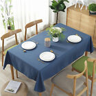 Solid Table Cover Rectangular Cotton Linen Tablecloth Dinging Table Decor WS
