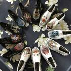 Retro Chinese Old Beijing Mens Embroidery Cloth Shoes Slip On Comfy Casual Shoes