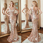 Ever-Pretty US V-neck Sequins Long Prom Dress Mermaid Formal Cocktail Party Gown